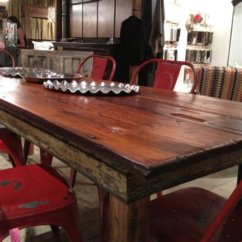 upcycled dining room tables at 24e wood is salvaged from