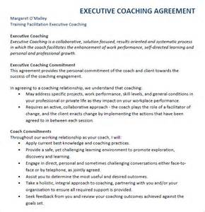 executive coaching plan template executive agreement 7 free sles exles format