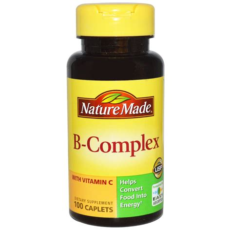b complex supplement nature made b complex with vitamin c 100 caplets iherb