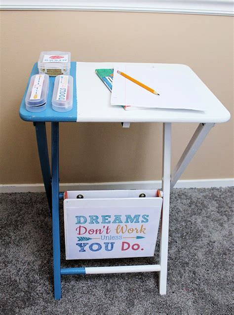 How To Make An Easy Homework Helper Portable Desk Small Homework Desk