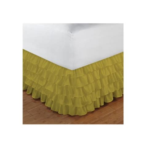 yellow bed skirt twin xl size ruffle bed skirt egyptian cotton 1000tc yellow