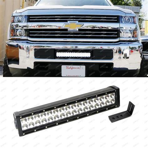 Silverado Led Light Bar Bumper 96w Led Light Bar W Lower Bumper Bracket Wiring For 15 Up Silverado 2500 3500 Ebay