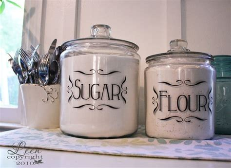 kitchen canister labels vinyl labels cricut pinterest