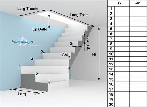 Escalier Sur Mesure Prix 1176 by Bien Prendre Ses Mesures Inox Design