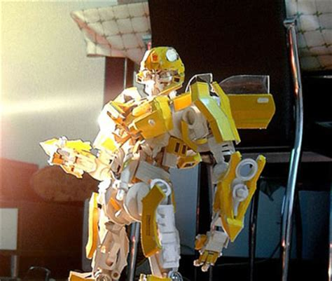 How To Make A Paper Transformer Bumblebee - papercraft transformer bumblebee papercrafty