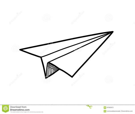 Origami Paper Plane - origami paper airplane doodle stock vector image 87905972