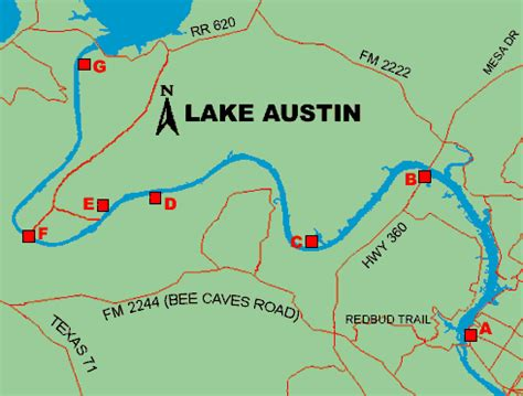 texas bank fishing map lake