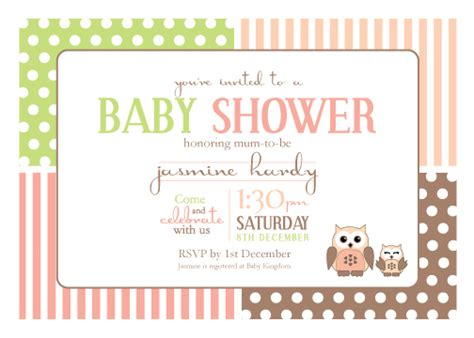 electronic baby shower invitations templates printable baby shower invitation template spotted owl