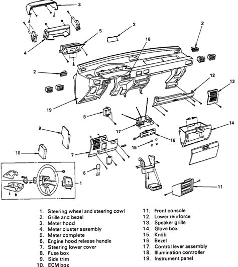 service manual remove instrument cluster from a 1997 isuzu rodeo repair guides instruments