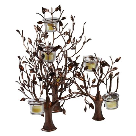 metal trees votive candle holder candlestock