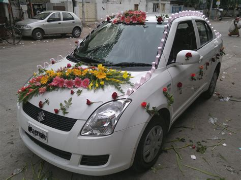 car wedding decoration photo diy simple car decoration for