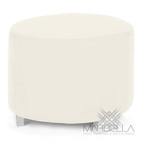 white round ottoman mondrian ottoman marbella event furniture decor rental