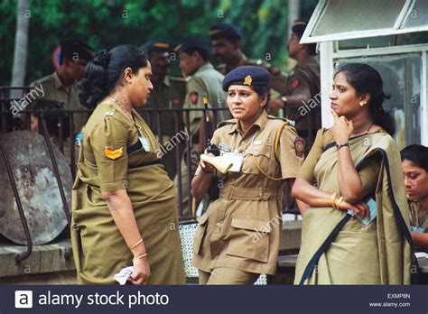 Fashion On Patrol In India by Officers Mumbai India Stock Photo 85279061