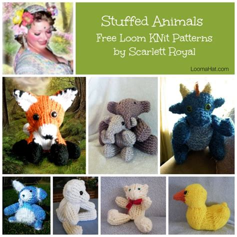 how to knit stuffed animals loom knit stuffed animals loomahat