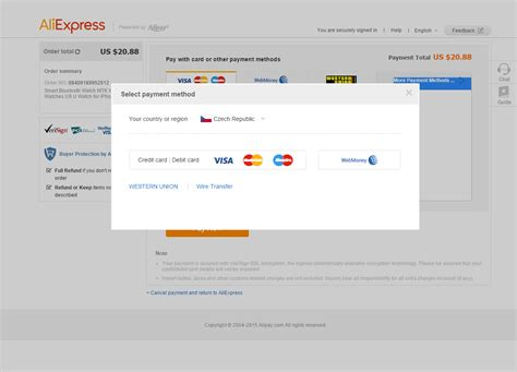 aliexpress jak płacić metody płatności paypal