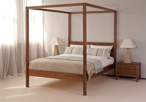 cube modern four poster bed natural bed company four poster beds ultimate luxury inspiration natural