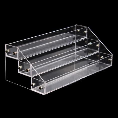 One Shanks Acrylic Stand 2d 3 layers acrylic nail display stand shelf rack makeup organizer cosmetics storage box