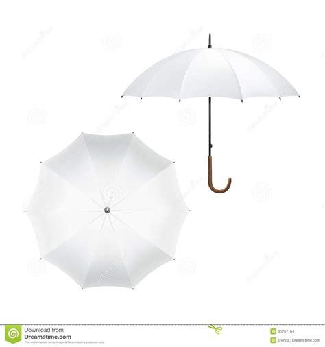 umbrella layout vector vector illustration of blank white umbrella stock vector