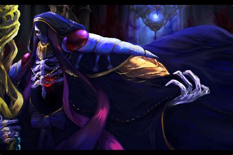 wallpaper anime overlord ainz ooal gown full hd wallpaper and background