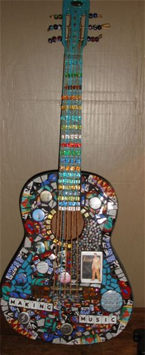 mosaic violin pattern quot dia de los muertos quot stained glass mosaic on retired