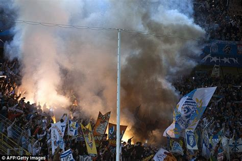 Flaring Ac Zenit chions league up mario balotelli scores last