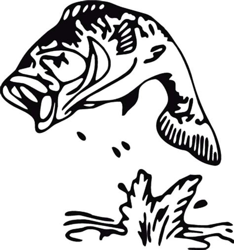 bass fish coloring pages free bass fish coloring coloring pages