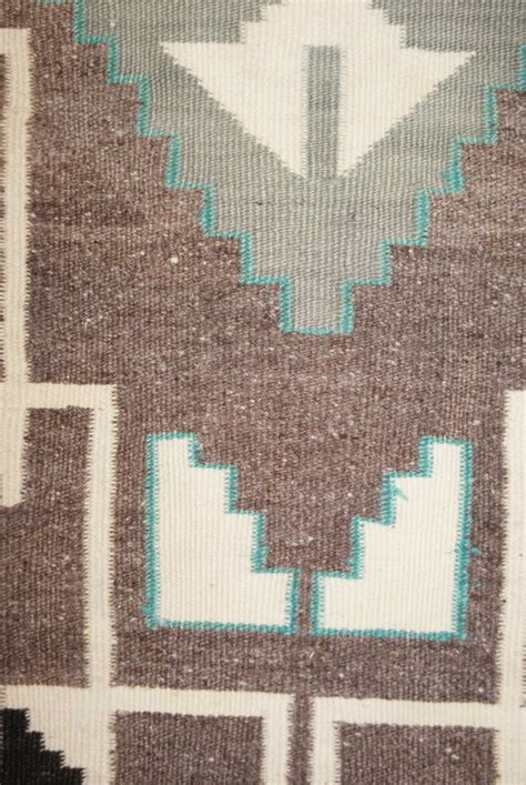 Turquoise Rugs For Sale by Two Grey Navajo Weaving With Turquoise