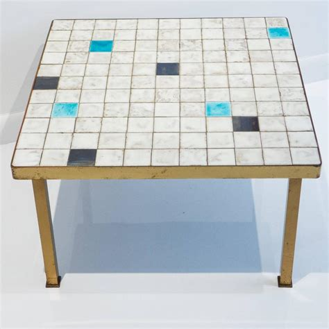 mid century ceramic l mid century ceramic tile side table for sale at 1stdibs