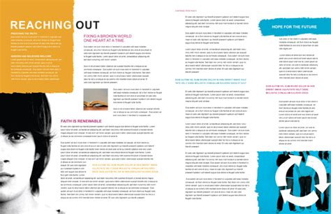 church magazine template create a magazine design from a newsletter or brochure