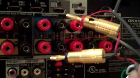 surround sound speaker wire connections