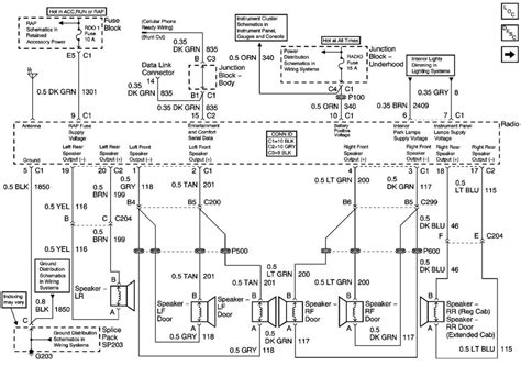 chevy silverado radio wiring diagram fuse box  wiring diagram