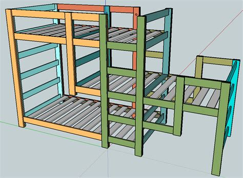 bunk beds plans wood triple bunk bed diy pdf plans