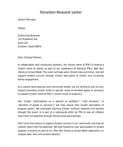 sle letter asking for donations from charity sle donation request letters for sports teams