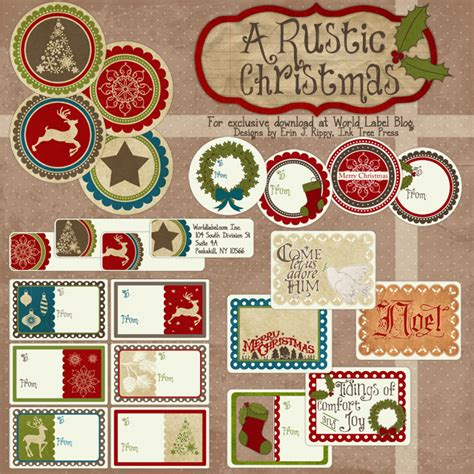 printable labels and tags for gifts worldlabel a rustic printable label set worldlabel