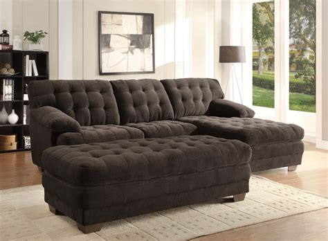 chocolate microfiber sectional homelegance brooks sectional sofa set chocolate