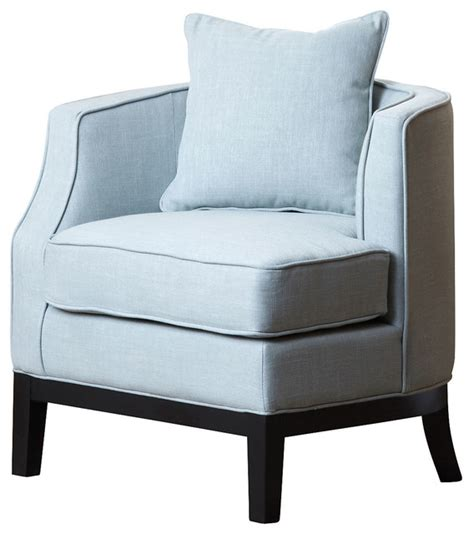 laura linen corner chair light blue contemporary armchairs  accent chairs