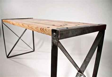 modern industrial desk office desk for basement reclaimed wood modern industrial desk by rockymountaintableco