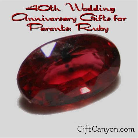 Ruby Anniversary Wedding by 40th Wedding Anniversary Gifts For Parents Ruby Gift