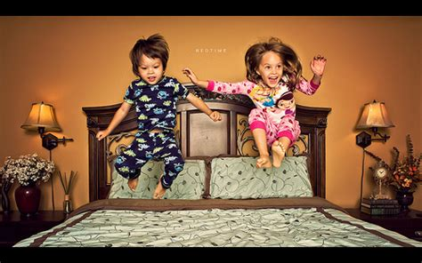 Jumping On The Bed by Gooble Gobble One Of Us Add One Of Us Brain