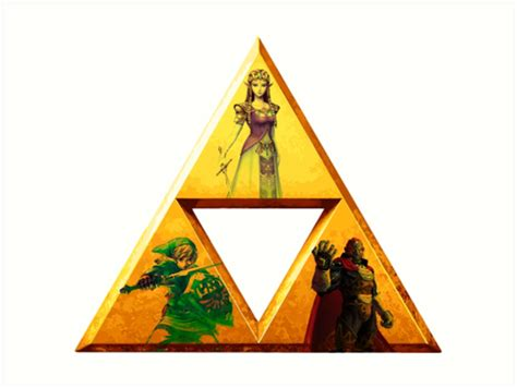 Loz Gift Small 9317 quot triforce the legend of quot prints by bisharptherangr redbubble