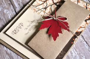 fall wedding invitations autumn wedding by alittlemorerosie