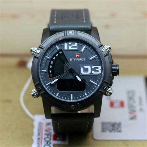Jam Tangan Pria Naviforce Original Stainless Garansi 1 Thn jam tangan naviforce nf 9095 original time digital