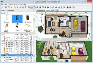 3d and 2d home design software suite sweet home 3d draw floor plans and arrange furniture freely