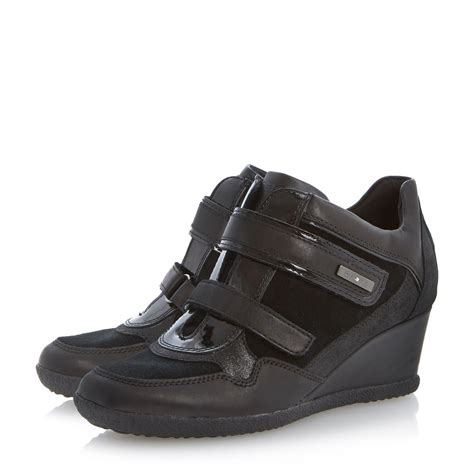 Shabby Velcro Sporty Shoes 1 geox amelia velcro sporty wedges in black lyst