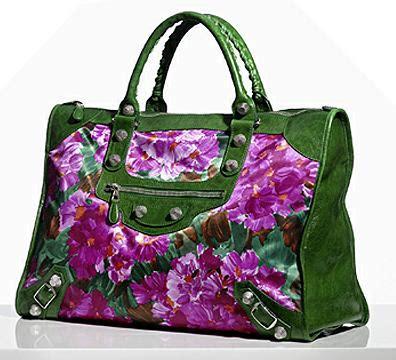 Balenciaga Floral Weekender in praise of balenciaga s printed bags purseblog