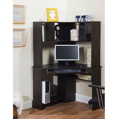 walmart corner desk corner computer desk and hutch black oak walmart
