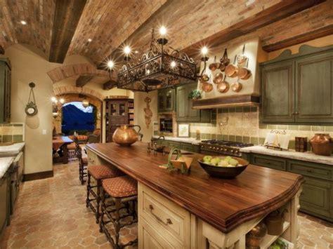 Mountain View Italian Kitchen by Les Plus Belles Cuisines Rustiques En Images
