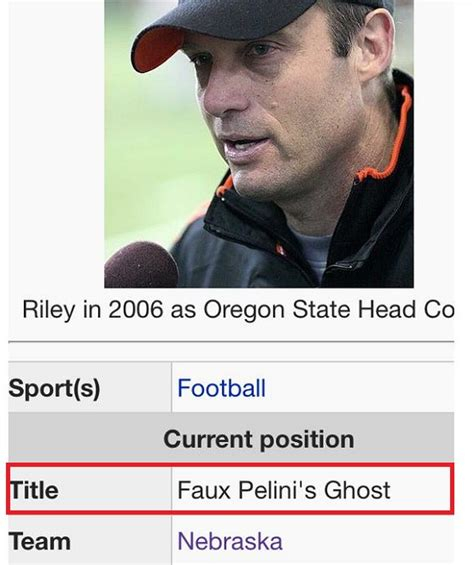 Memes Wikipedia - mike riley wikipedia page gets funny edits after nebraska