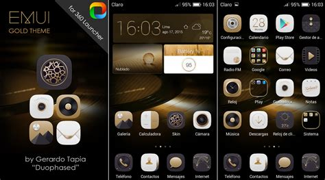 360 launcher themes pack gold theme emui theme for 360 launcher by duophased on
