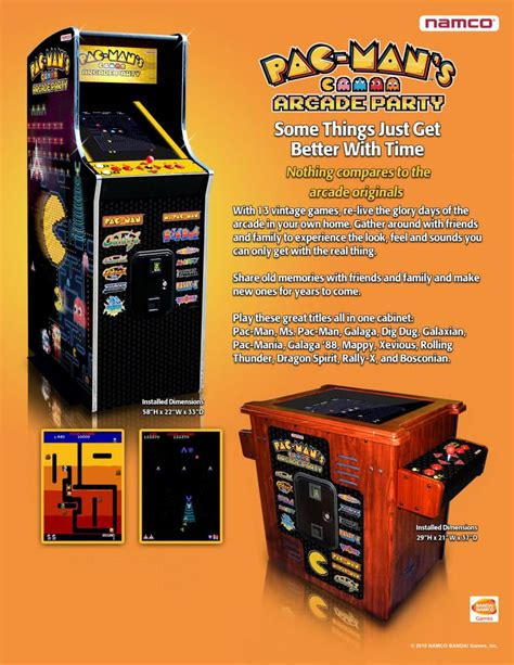 pac man arcade namco pac man s arcade party cocktail arcade machine